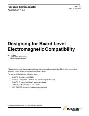 Design for Board EMI compatability