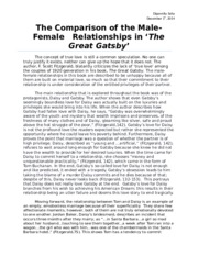 The Comparison of the Male-Female relationship