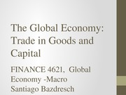 1 - The Global Economy- Trade in Goods and Capital