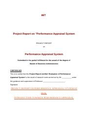 IMT PROJECT REPORT ON PERFORMANCE APPRASAL SYSTEM.docx