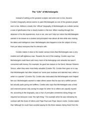 Essay On Michelangelo  The Life Of Michelangelo Instead Of Settling  Essay On Michelangelo  The Life Of Michelangelo Instead Of Settling At The  Greatest Sculptor And Artist Ever To Live Ascanio Condivis Biography Almost Assignment Experts also English Essay Questions  Research Proposal Essay Topics
