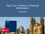 Topic Two - Financial Mathematics