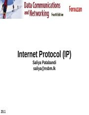 Internet Protocol and Adressing II