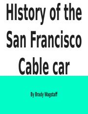 HIstory of the San Francisco Cable car