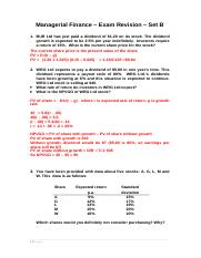 practice test questions set B with suggested answers
