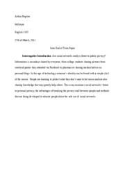 Intro end of term english 1102 paper