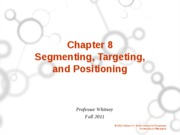 Ch. 8 Segmenting, Targeting, Positioning Student Version