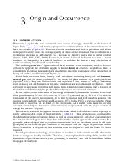 Chapter 3 Origin and Occurence