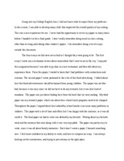 english reflective letter going into my college english class i did not