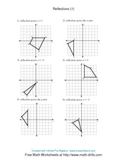 Printables Reflections Worksheet Geometry math 8 reflection worksheet 3 solutions y 1 x v p f d 2 pages solutions