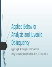 Applied Behavior Analysis and Juvenile Delinquency.pptx