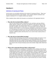 Kimberly Miller_ SLS 3130-5 Principles and Applications of Adult Learning - 5 Handout 1 - Definition
