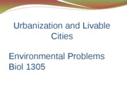 13-Urbanization and Livable Cities