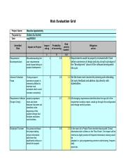 Risk Evaluation Matrix BookPlus.xls