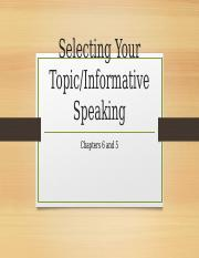 Chapter 6 Topic Chapter 5 Informative Speech.pptx
