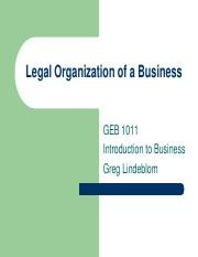 Legal Organization of a Business - GEB1011 INTRO BUS ONLINE 483486.pdf