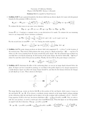Physics 110A Problem Set 4 Solutions