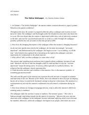 The Yellow Wallpaper Questions Docx 1 Ingilman S