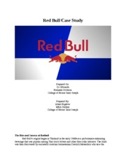 Bigelow MKT.MGT. Red Bull Case Study