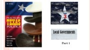 Chapter 3, part 1 - local government part 1