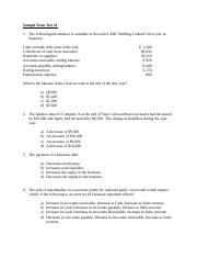 Sample - Fall 2011 -  Term Test #1