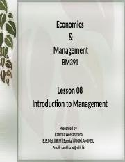 Introduction to Management  2015 August
