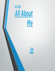 All About Me part 3
