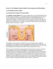Lecture 19:The Medullary Osmotic Gradient, Urine Formation and Acid-Base Balance