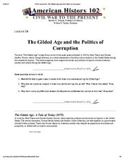 H102 Lecture 04_ The Gilded Age and the Politics of Corruption