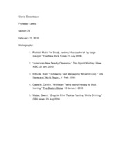 Informative Speech bibliography