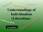 2611E Lecture SLides Ideology-Individualsim