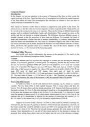 ECON 3420 Notes 6 [Corporate Finance]