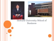 Howard University School of Business PowerPoint