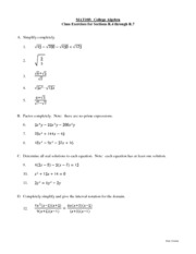 Lectures and Solutions 2