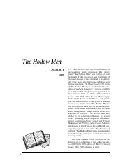 The Hollow Men (TS Eliot)