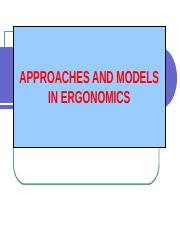 Chap II - Approaches & Models in Ergonomics.ppt