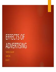 Tameka Gilliam - EFFECTS OF ADVERTISING 1 (1).pptx