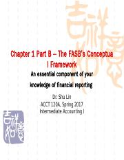 Chapter 1 Part B-1 (Bb) Spring 2017