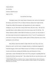 Term paper for US Civil War