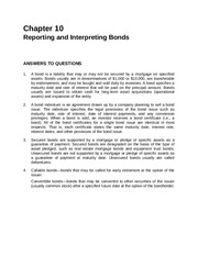 Chapter 10 Reporting and Interprenting Bonds