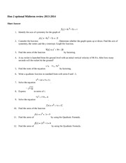 Midterm Review with solution
