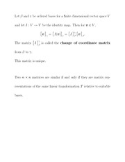change of coordinate matrix