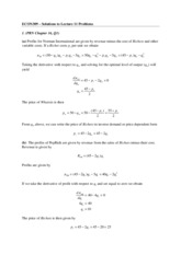 Lecture 11 solutions