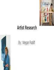 Artist Research.odp