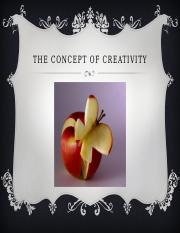 151 The Concept of Creativity SP 2016.pptx