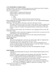CogSci1 Complete Notes