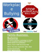 Workplace Bullying Flyer