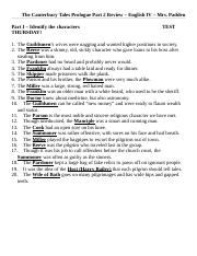 The Canterbury Tales Prologue Test STUDY GUIDE Part 2 ANSWERS.doc