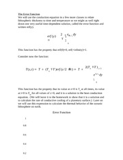 Lecture 11 Notes The Error Function