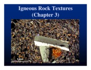 Chapter 3 Igneous Rock Textures